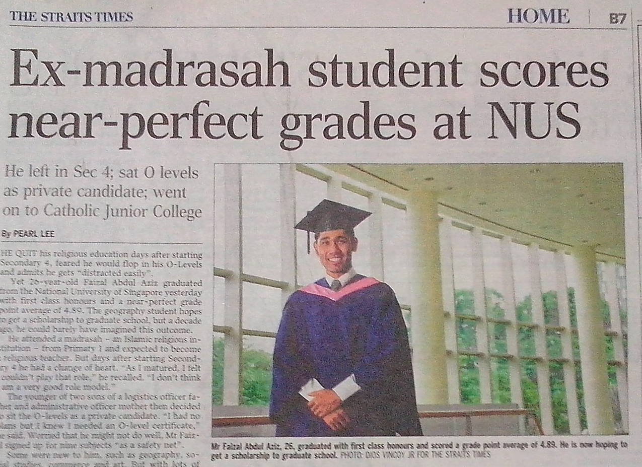 faizal abdul aziz first class honours graduate extraordinary faizal